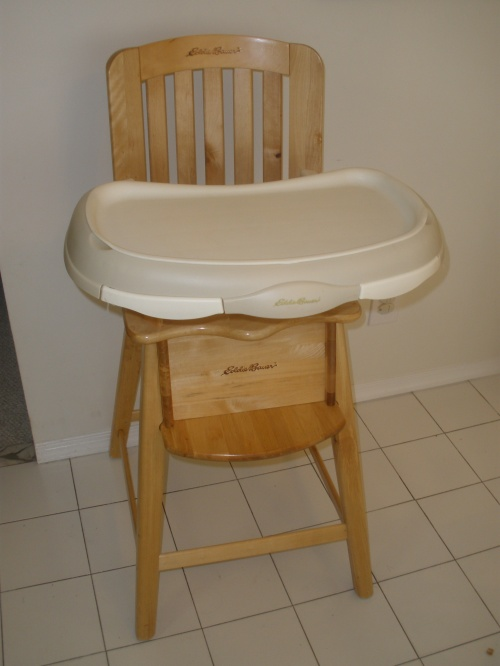 Eddie bauer newport collection wood high chair review tara s baby